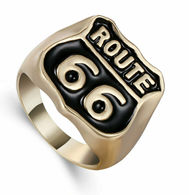 BAGUE COULEUR OR ROUTE 66 - Rings