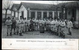 45, MONTARGIS, 82e Regiment D'infanterie, Epluchage De Pommes De Terre - Montargis