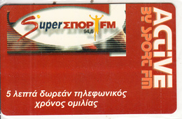 GREECE - Super Sport FM, VIVODI Promotion Prepaid Card, Tirage 5000, Exp.date 28/02/03, Mint - Advertising