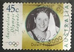 133.Australia 1998 (45c) 02 Diff Used Stamp Olympic Legend Dawn Fraser - 2000-09 Elizabeth II