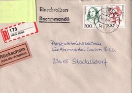 ! 1 Einschreiben Mit Rückschein 1994, Mit Selbstklebe R-Zettel  Aus Stülpe, 14943 - BRD