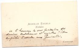 Visitekaartje - Carte Visite - Notaris Achille Engels - Caprycke Kaprijke - Cartes De Visite