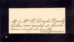 Visitekaartje - Carte Visite - Mr & Mme Dossche - Dossche - Waterland Oudeman - Cartes De Visite