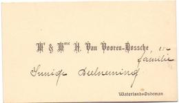 Visitekaartje - Carte Visite - Mr & Mme H. Van Vooren - Dossche - Waterland Oudeman - Cartes De Visite
