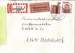 ! 4 Einschreiben , 3 Mit Rückschein 1994-1997 , 1 X Mit Selbstklebe R-Zettel  Aus Brandenburg An Der Havel, 14772, 14770 - BRD