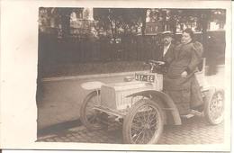"RARE CARTE PHOTO Voiture Ancienne ""MINERVA"" , La Minervette - Passenger Cars"
