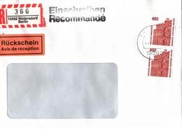! 1 Einschreiben Mit Rückschein  ,  Mit  R-Zettel  Aus Rüdersdorf Bei Berlin, 15562 - R- & V- Labels