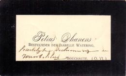 Visitekaartje - Carte Visite - Bestuurder Isabelle Watering Petrus Dhanens - Boekhoute - Cartes De Visite