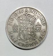GRAN BRETAGNA / GREAT BRITAIN - HALF CROWN ( 1948 ) GEORGE VI - 1902-1971 : Monete Post-Vittoriane