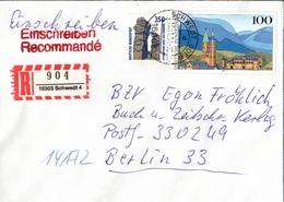 ! 2 Einschreiben 1x Mit Rückschein,1994, 1996 ,  R-Zettel  Aus Schwedt, 16303 - BRD