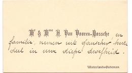 Visitekaartje - Carte Visite - Mr & Mme H. Van Vooren - Dossche - Waterland Oudeman - Cartoncini Da Visita