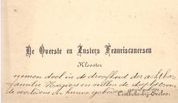 Visitekaartje - Carte Visite - Overste & Zusters Franciscanersen - Klooster Lembeke - Cartes De Visite