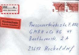! 4 Einschreiben 2x Mit Rückschein,1994, Selbstklebende R-Zettel  Aus Eberswalde, 16225, 16227 - BRD