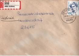 ! 1 Einschreiben ,1994, Selbstklebender R-Zettel  Aus Herzberg, 16835 - R- & V- Labels