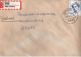 ! 1 Einschreiben ,1994, Selbstklebender R-Zettel  Aus Herzberg, 16835 - [7] République Fédérale