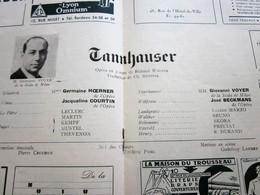 "SAISON 1948/49 "" TANNHAUSER "" WAGNER PROGRAMME VILLE DE LYON ORCHESTRE OPÉRA THÉÂTRE C. BOUCOIRAN-PUBS-PHOTOS ART - Programmes"