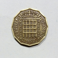 GRAN BRETAGNA / GREAT BRITAIN - 3 PENCE ( 1960 ) Elizabeth II - 1902-1971 : Monete Post-Vittoriane