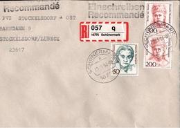 ! 1 Einschreiben ,1994, Selbstklebender R-Zettel  Aus Schönermark, 16775, Lkr. Oberhavel, Gransee - BRD