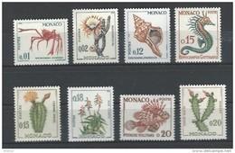 """Monaco YT 537A à 543 """" Faune Et Flore """" 1960-65 Neuf** - Unused Stamps"""