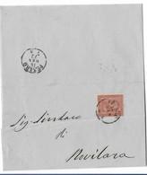 DA PESARO A NOVILARA - 15.1.1872. - 1861-78 Vittorio Emanuele II