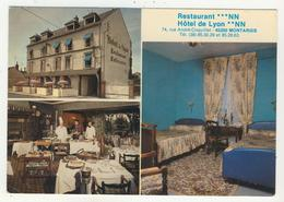 45 - Montargis -    Restaurant-Hôtel  De Lyon -        Multivues - Montargis