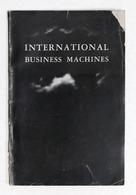 Brochure IBM - International Business Machines - Storia E Prodotti - Ed. 1945 - Publicités