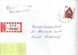 ! 1 Einschreiben ,1994,  R-Zettel  Aus Röbel, 17207, Mecklenburg - BRD