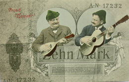 """""""Neujahr, Männer, Gitarre, Manoline, Zehn Mark"""" 1912 ♥   - Neujahr"""
