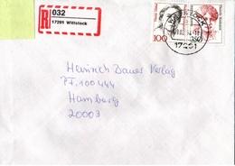 ! 1 Einschreiben ,1994, Selbstklebender  R-Zettel  Aus Wittstock, 17291 - BRD