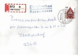 ! 2 Einschreiben ,1994, 1995, 1 Xselbstklebender  R-Zettel,  Aus Friedland, 17098 - BRD
