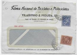PORTUGAL - 1959 - ENVELOPPE PUB ILLUSTREE (MOTOS + VELOS) De  S.MAMEDE DE INFESTA - 1910-... Republic