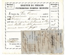 COMUNE DI PESARO - PARTIMONIO POMPEO MANCINI - 29.3.1862. - 1861-78 Vittorio Emanuele II