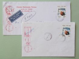 (IMG_51)- ITALIA, 4650 Roma-NewYork, In Tariffa Racc. Aerea X USA E Stampe Racc. X Italia (busta Lunga Aperta Da Duelati - 1991-00: Storia Postale