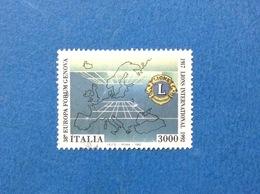 1992 ITALIA FRANCOBOLLO USATO STAMP USED LIONS INTERNATIONAL - 1991-00: Used