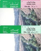 United Arab Emirates (UAE), Magnetic Early Pictorial Phone Card, (2 Cards - Dh 60&120) - United Arab Emirates