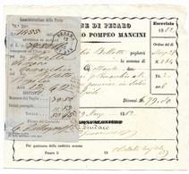 COMUNE DI PESARO - PARTIMONIO POMPEO MANCINI - 8.6.1861. - 1861-78 Vittorio Emanuele II