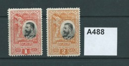 Romania 1906 25th Anniv Of Kingdom. 1L And 2L - 1881-1918: Carol I.