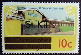 St Christopher Nevis Anguilla Surchargé Overprinted St. Kitts 1980 College School école Yvert 425 ** MNH - St.Kitts Und Nevis ( 1983-...)