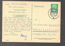 Michel P67 1956 Pegau Johannes Krebs > Marianne Thiele Leipzig (345) - [6] République Démocratique