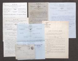 Aeronautica Autarchia SAI - Lotto 6 Volantini Propaganda Olio Ricino - Anni '20 - Vecchi Documenti