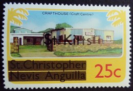St Christopher Nevis Anguilla Surchargé Overprinted St. Kitts 1980 Artisanat Craft Center Yvert 428 ** MNH - St.Kitts En Nevis ( 1983-...)