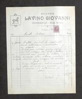 Pubblicità - Selleria Lavino Giovanni - Carmagnola - Fattura Luglio 1929 - Pubblicitari