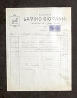 Pubblicità - Selleria Lavino Giovanni - Carmagnola - Fattura Dicembre 1929 - Pubblicitari