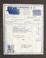 Pubblicità - Gandino & C. Officina Meccanica - Torino - Fattura Giugno 1935 - Pubblicitari