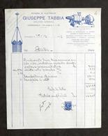 Pubblicità - Negozio Di Elettricità Giuseppe Tabbia - Carmagnola - Fattura 1932 - Pubblicitari