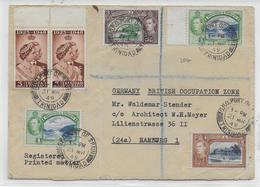 TRINIDAD - 1949 - ENVELOPPE RECOMMANDEE De PORT OF SPAIN => HAMBURG (GERMANY) - Trinité & Tobago (...-1961)