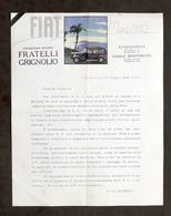 Pubblicità Concessionaria Fiat Grignolio Alessandria - Invito Prova Vetture 1929 - Pubblicitari