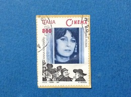 1997 ITALIA FRANCOBOLLO USATO STAMP USED CINEMA ANNA MAGNANI - 6. 1946-.. Repubblica