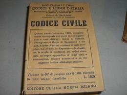 MANUALE HOEPLI CODICE CIVILE 1953 - Libri, Riviste, Fumetti