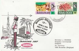 Bahamas - First Flight Boeing 707 Nassau To Brussels 1974 - SABENA - Bahamas (1973-...)